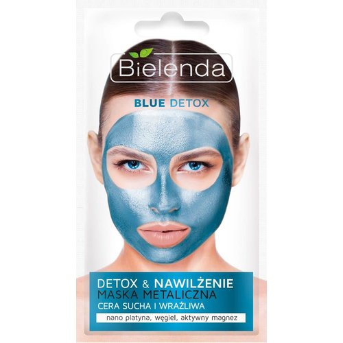 BIELENDA Blue Detox Maska Metaliczna 8g