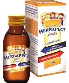 AFLOFARM Herbapect Junior Syrop na Kaszel Smak Malinowy 120ml