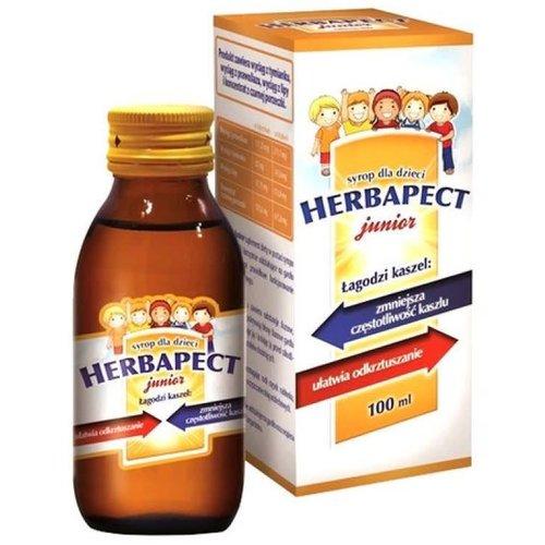 AFLOFARM HERBAPECT- Junior Syrop Na Kaszel Smak Malinowy 120ml