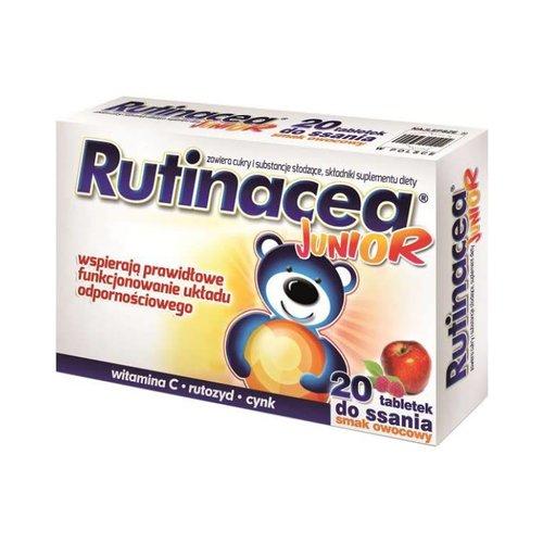 AFLOFARM RUTINACEA- Junior Smak Owocowy 20 tabl Do Ssania