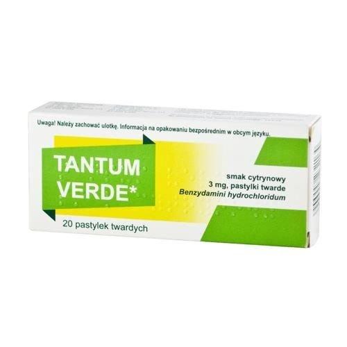 ANGELINI TANTUM VERDE- Tabletki Do Ssania Smak Cytrynowy  20 tabl