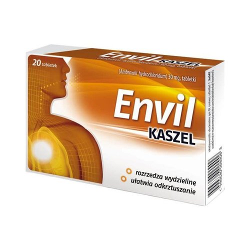 AFLOFARM ENVIL- Kaszel Tabletki Na Kaszel 20 tabl