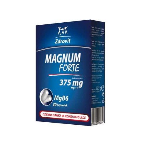 ZDROVIT Magnum Forte Magnez 375 mg i Wit. B6  30 kaps