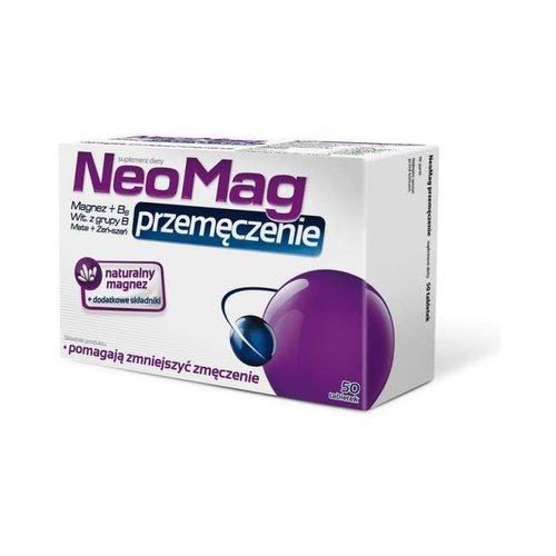 AFLOFARM NEOMAG- Przemeczenie Magnez, Wit. B6, Mate, ZenSzen 50 tabl