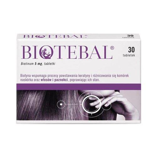 POLPHARMA BIOTEBAL- Biotinum 5 mg 30 tabl