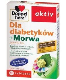 DOPPEL HERZ Active Suplement Diety Dla Diabetyków + Morwa 40 tabletek