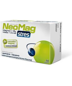 AFLOFARM NEOMAG Stres Naturalny Magnez + Dodatkowe Składniki 50tabletek
