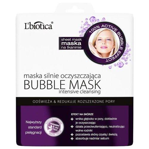 L'BIOTICA Bubble Mask Maska Na Tkaninie Silnie Oczyszczajaca 1szt
