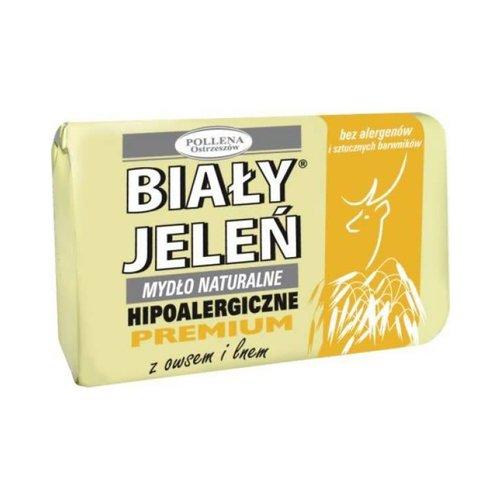 POLLENA BIALY JELEN- Mydlo z Owsem i Lnem 100g