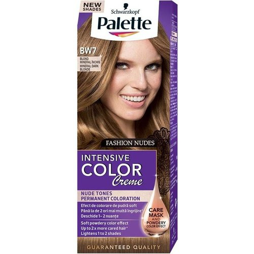 SCHWARZKOPF PALETTE- Intensive Color Creme Nude Tones BW7 Mineralny Ciemny Blond