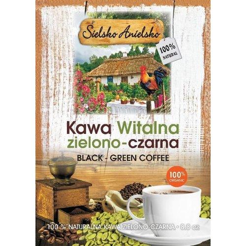 SIELSKO ANIELSKO Kawa Witalna Zielono-Czarna - Black-Green Coffee 8.8oz