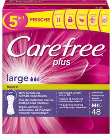 JOHNSON & JOHNSON CAREFREE- Wkladki Higieniczne Plus Large Fresh 48 szt