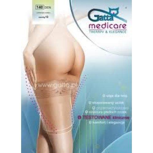 GATTA Medicare 140 DEN mm/Hg 18 Ponczochy Przeciwzylakowe 1-2 S/M Nero