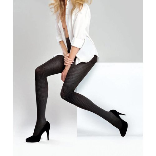 GABRIELLA Fashion Callection Natalie Rajstopy Size 3 Nero/Smoky