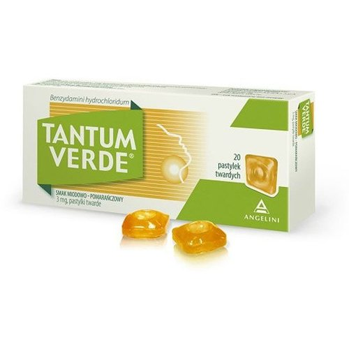 ANGELINI TANTUM VERDE- Tabletki do Ssania 20 szt