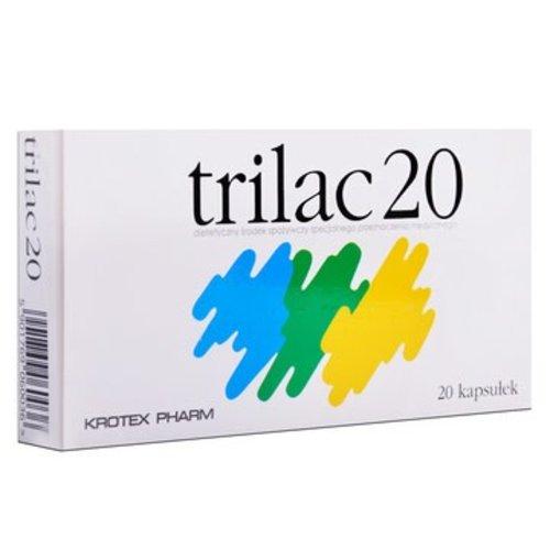 KROTEX PHARM TRILAC 20- Bakterie Kwasu Mlekowego 20 kaps