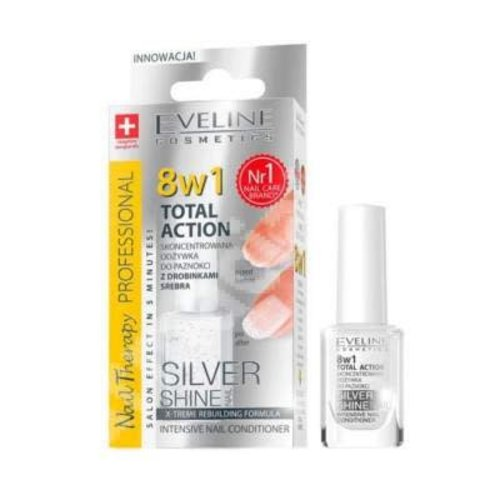 EVELINE EVELINE- 8w1 Total Action Silver Shine Intensive Nail Conditioner 12ml