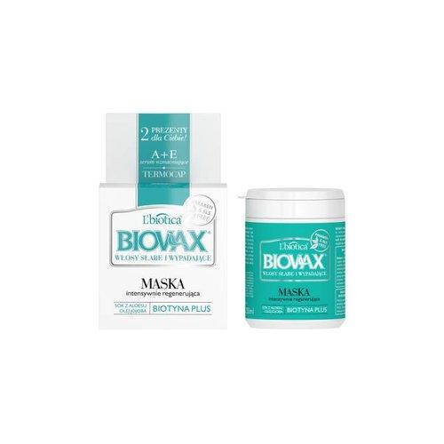 L'BIOTICA BIOVAX- Hair Mask Intesywnie Regenerujaca Wlosy Slabe i Wypadajce 250ml