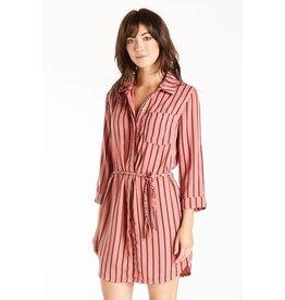 DEAR JOHN Wendy Stripe Shirt Dress