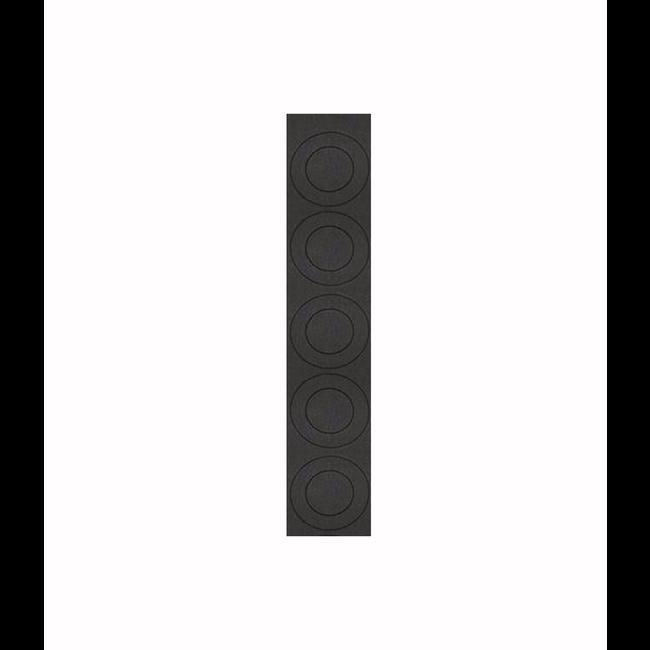 20700 Flat Top Battery Terminal Insulator 5 Pack Black