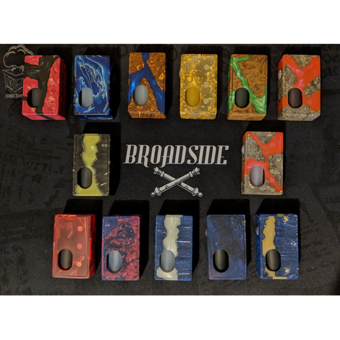 Broadside Mods Stabilized Wood Single 18650 Squonk Box Mod