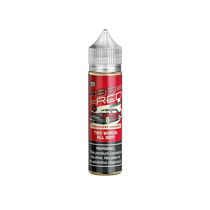 485 Red E-Liquid Strawberry Hibiscus 60ml