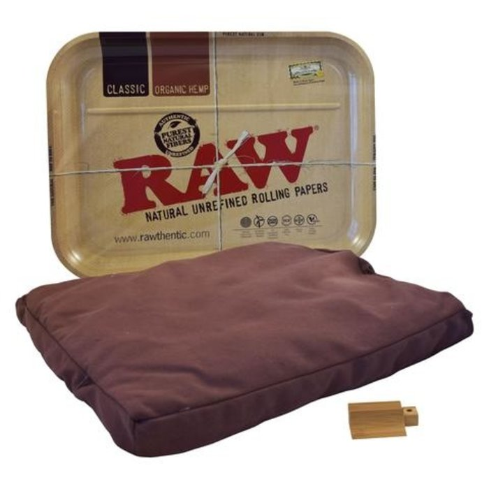 Raw Metal XXL Rolling Tray with Bean Bag
