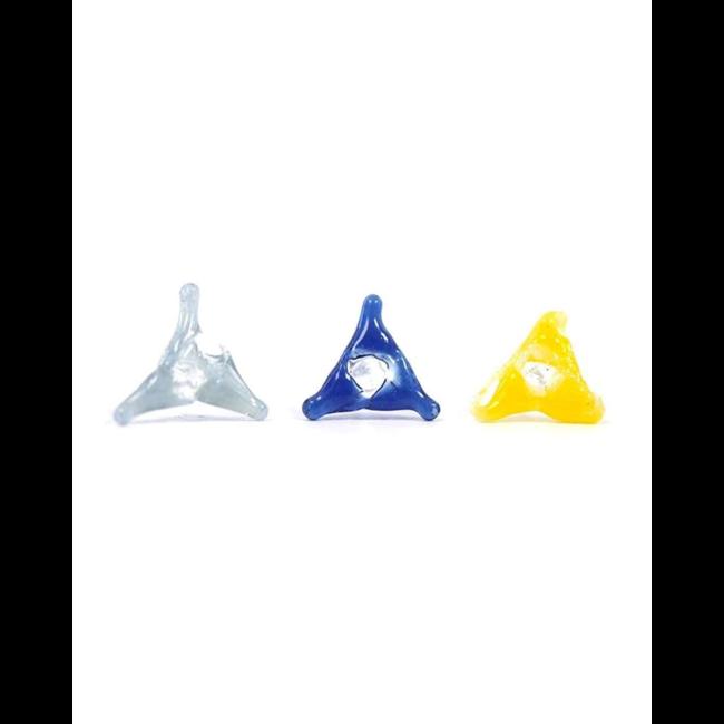 White Rhino Glass Screens Triangle Assorted 20 pc