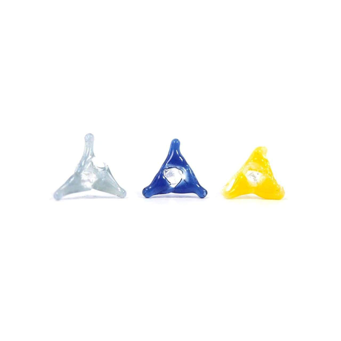 White Rhino Glass Screens Triangle Assorted 20 pc