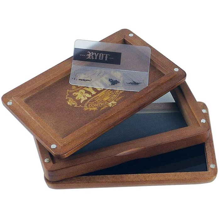 "Ryot 3""x5"" Glas Top Screen Box Walnut"
