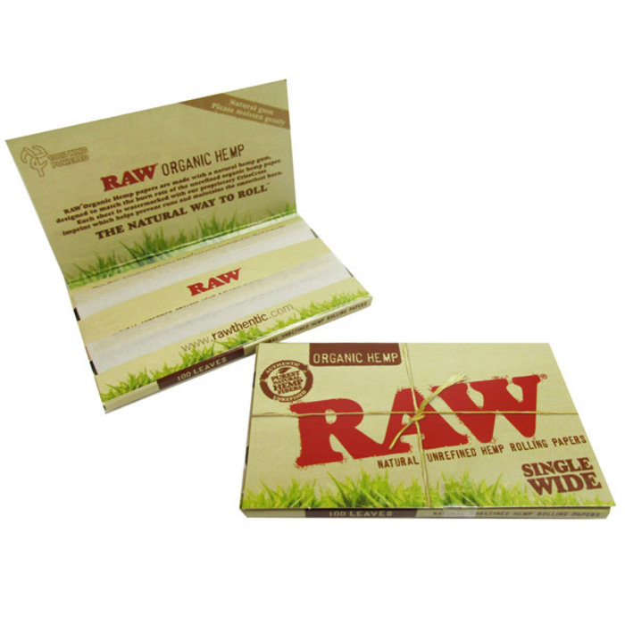 Raw Organic Single Wide Rolling Papers