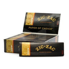 Zig Zag Black King Size Cigarette Rolling Papers