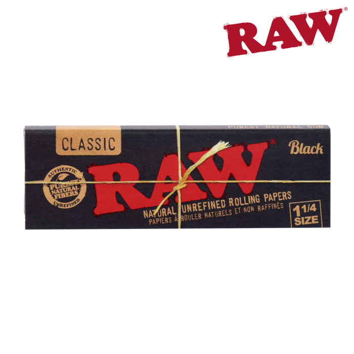 Raw Black Classic 1 1/4 size rolling papers