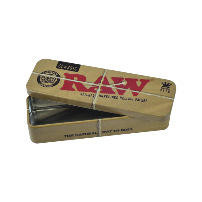 Raw Roll Caddy Tin Metal Rolling Case King Size