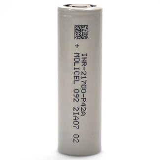 Molicel/NPE Molicel/NPE P42A INR 21700 45 amp 4200 mah Flat Top Battery