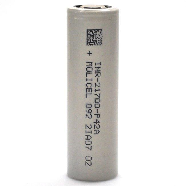 Molicel/NPE P42A INR 21700 45 amp 4200 mah Flat Top Battery
