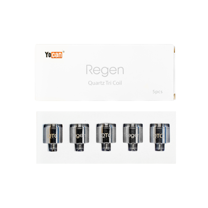 Yocan Evolve Plus / Regen Triple Quartz 5 Pack Replacement Coils