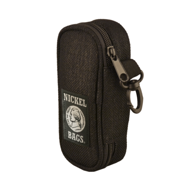 """Nickel Bags Black 5"""" Zippered Pouch"""