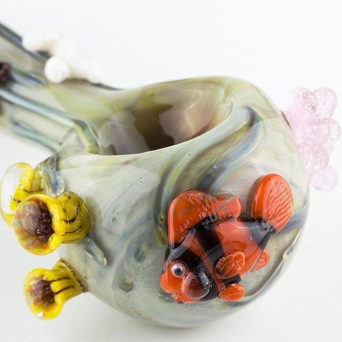 Empire Glassworks Small Spoon Pipe Under The Sea
