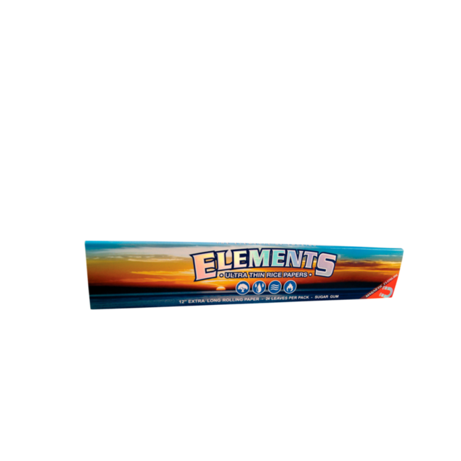 """Elements Ultra Thin Rice Rolling Papers 12""""  Super Size"""