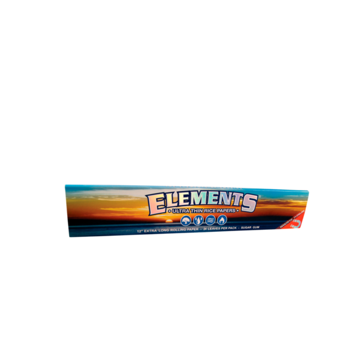 "Elements Ultra Thin Rice Rolling Papers 12""  Super Size"