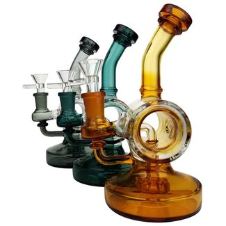 "On Point Glass On Point Glass 7.5"" Barrel Perc Water Pipe with 14M Bowl"