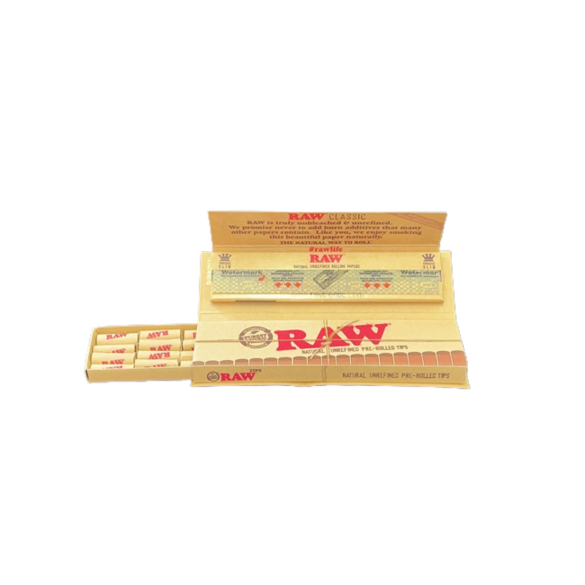 Raw Classic Masterpiece King Slim Size & Pre Rolled tips