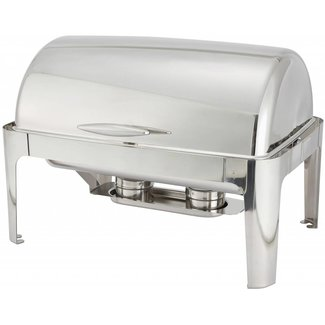 Winco Winco 601 Madison 8qt Full-size Chafer, Roll-top, S/S, Heavyweight