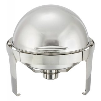 Winco Winco 602 Madison 6qt Round Chafer, Roll-top, S/S, Heavyweight