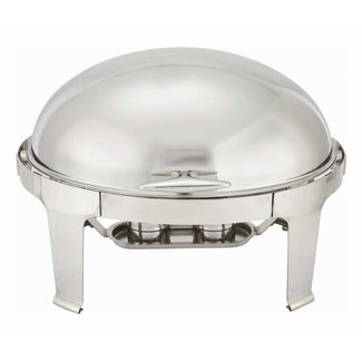 Winco Winco 603 Madison 8qt Oval Chafer, Roll-top, S/S, Heavyweight