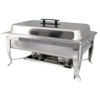 Winco Winco C-1080 Bellaire 8 Qt Full-size Chafer, Folding Frame, S/S