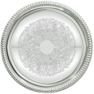 Winco Winco CMT-14 Serving Tray, Round, 14'', Chrome Plated