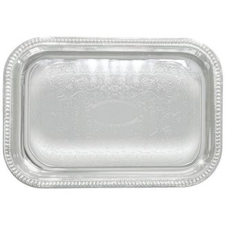 Winco Winco CMT-1812 Serving Tray, Oblong 18'', Chrome Plated
