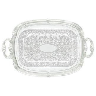Winco Winco CMT-1912 Serving Tray w/Hdls, Oblong, 19'' x 12'', Chrome Plated